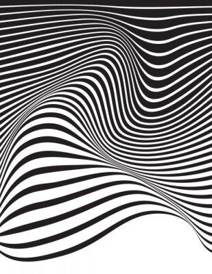 Optische kunst opart gestreiften wellenförmigen hintergrund