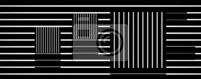 optische Kunst quadratischen Linie Vektor, Op-Art, schwarz und weiß