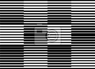 optische Kunst schwarzer Linienvektor, op art, Schwarzweiss