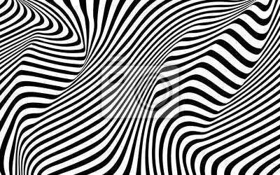 optische Kunst Welle abstrakten Hintergrund schwarz und weiß