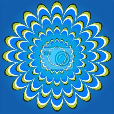 optische Täuschung Blume Kreise