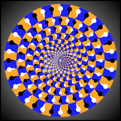 Optische Täuschung Ellipse