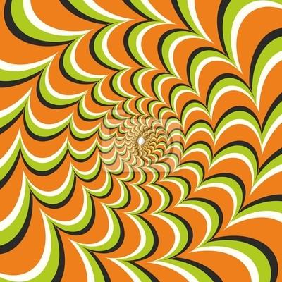 Optische Täuschung Ellipse Orange