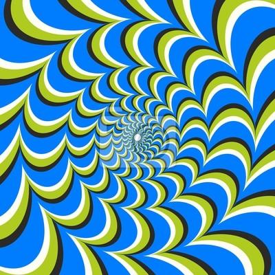 Optische Täuschung Ellipse Wirbel