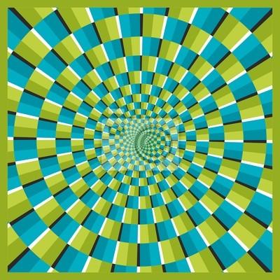 Optische Täuschung Frame Ellipse 04