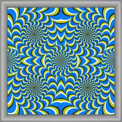 Optische Täuschung Kreis Quadrate Leinwand [cx]