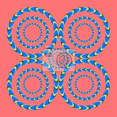 optische Täuschung spiralförmigen Kreisen