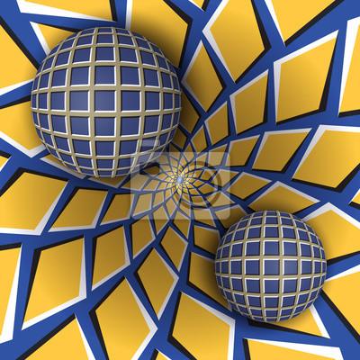 Optische Täuschungabbildung. Zusammenfassung Hintergrund in einem surrealen Stil.