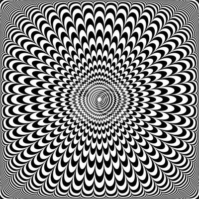Optisches Illusion Design. Abstraktes OP-Kunstmuster.