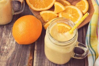 Bild Orange Frucht-Smoothie im Glas