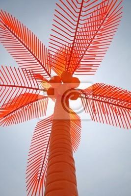 Bild Orange Kunststoff Palme