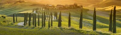 Bild orange Sonnenuntergang in der Toskana in Italien
