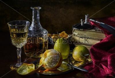 Bild Orangen, Birnen und getrocknete Aprikosen