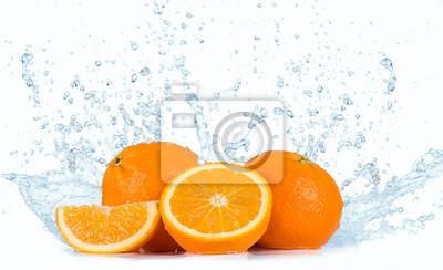 Bild Oranges with Water splashes