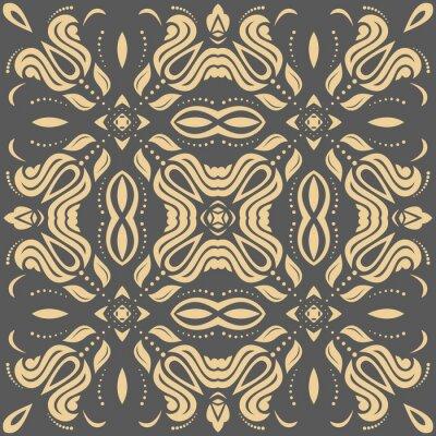 Bild Orientalisches goldenes Muster mit Arabesken und floralen Elementen. Traditionelle klassische Ornament