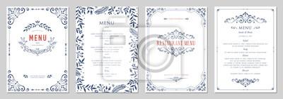 Bild Ornate classic templates set in vintage style. Wedding and restaurant menu.