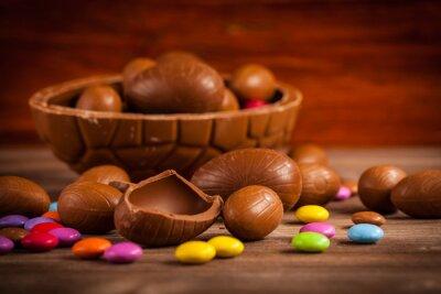 Bild Ostern Schokolade Hintergrund