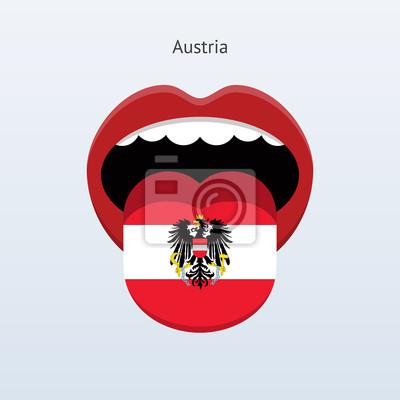 Österreich Sprache. Abstrakt menschliche Zunge.