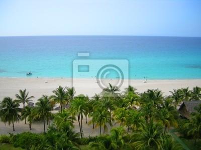 Overhead Ansicht der tropischen Strand von Varadero in Kuba