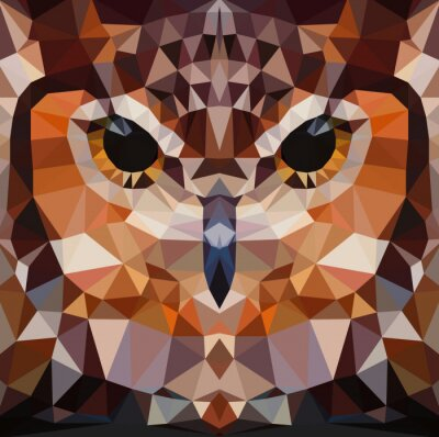 Bild Owl head vector background geometric illustration