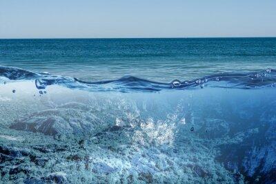 Bild Ozean Unterwasser-Ansicht. Gemischte Medien