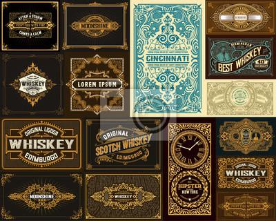 Bild Pack of 16 vintage designs for packing
