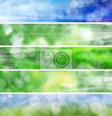 Packung mit Web-Banner Sommer Bokeh