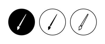 Bild Paint icon set. paint brush icon vector. paint roller icon vector