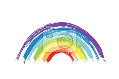 Bild Painted rainbow. Vector illustration.