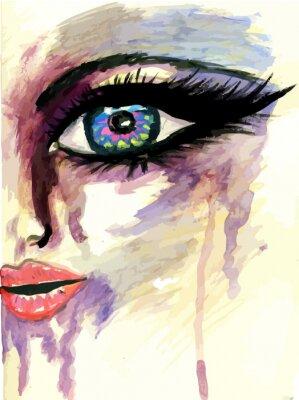 Bild Painted stilisiertes Gesicht