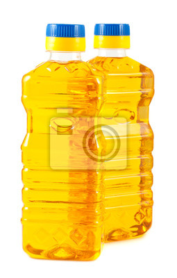 Bild Pair von Kunststoff-Flaschen mit Pflanzenöl