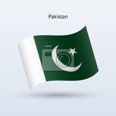 Pakistan Fahnenschwingen Form. Vektor-Illustration.