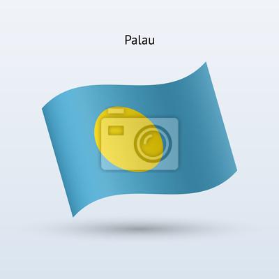 Palau Fahnenschwingen Form. Vektor-Illustration.