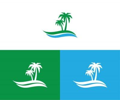 Bild palm, landscape, travel, tour, vector logo design