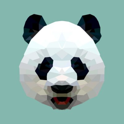 Bild Panda Kopf Polygon isolierten Vektor-