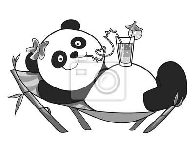 Bild Panda ruht auf einer Sonnenliege 2