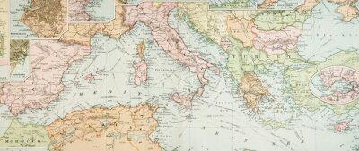 Bild Panorama Antike Karte