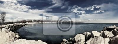 Panorama Beach 4 monochrome