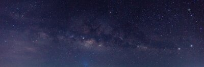 Bild Panorama blue night sky milky way and star on dark background.Universe filled with stars, nebula and galaxy with noise and grain.Photo by long exposure and select white balance.selection focus.amazing