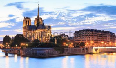 Bild Panorama der Insel Zitieren Sie mit der Kathedrale Notre Dame de Paris in Paris, Frankreich.