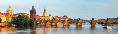 Bild Panorama der Karlsbrücke in Prag, Tschechische Republik