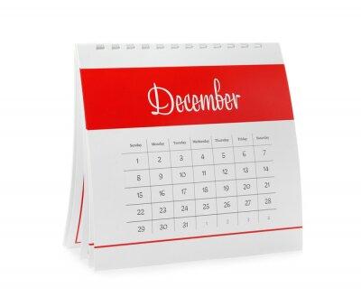 Bild Paper calendar isolated on white. Planning concept