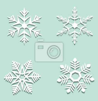 Papier Schneeflocken Leinwandbilder Bilder Origami Schneeflocke
