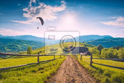 Paraglide Silhouette gegen Himmel
