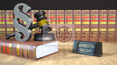 Paragraf Gavel Gesetzbücher Arbeitsrecht Leinwandbilder Bilder