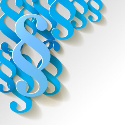 Bild Paragraf Papier Muster Hintergrund BLAU