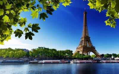 Bild Paris eiffel frankreich fluss strand bäume
