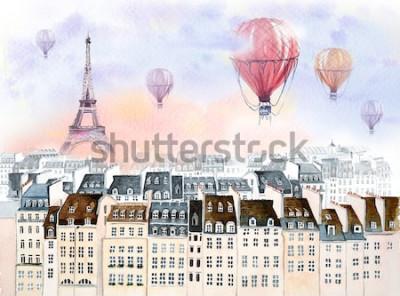 Bild Paris mit Heißluftballon