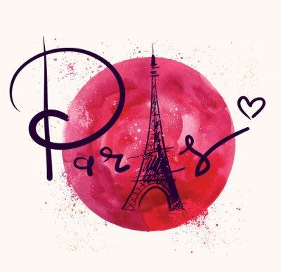 Bild Paris und roten Kreis