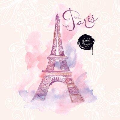 Bild Paris. Vector watercolor illustration